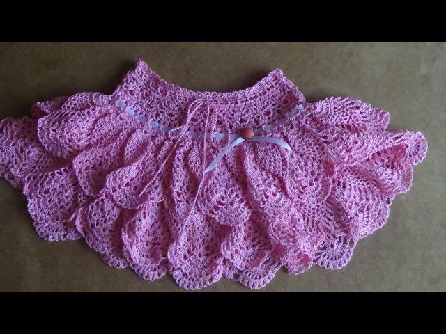 Юбочка крючком для девочки. Часть 2 . Skirt crochet for girl