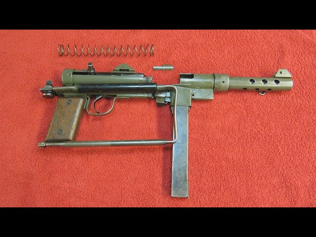 Swedish K M/45 SMG Parts Kit Overview