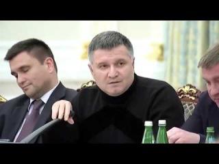 Молния! Аваков обнародовал видео конфликта с Саакашвили Водой облил