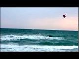 Кайтсерфинг на Черном море . Активный отдых в Ильичевске , сентябрь 2015 .  Black sea  Ilyichevsk