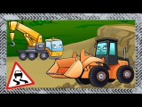✔ Excavator with Truck build playground. Digger for kids / Cars Cartoons Compilation / 58 Episode ✔