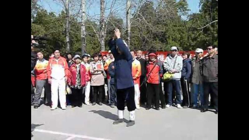 85 yrs/old Tai Chi/Wudang Master Warming up/太极拳老师傅