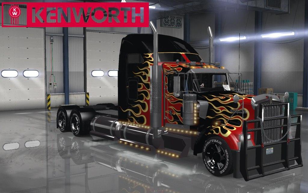 Kenworth W900 Edit для American Truck Simulator