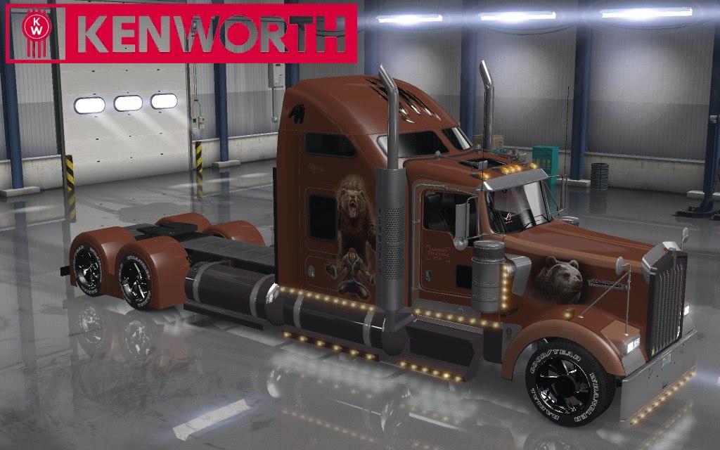 Kenworth W900 Bears Skin для American Truck Simulator