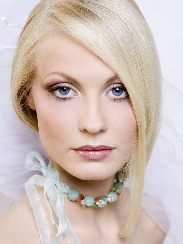 Макияж невесты с серыми глазами блондинок
