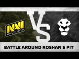 Battle around Roshans pit by Na`Vi vs Ad Finem @ ESL One Manila