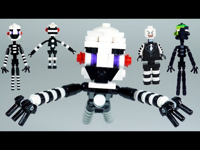 How to Build LEGO FNAF Puppet (Marionette) Phantom Puppet