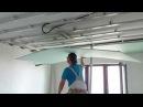 Самый ЛЕГКИЙ монтаж листа гипсокартона в одиночку Easiest way install drywall Потолок 11