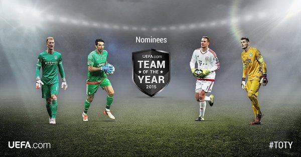 Обнародован список претендентов на попадание в команду года 2015