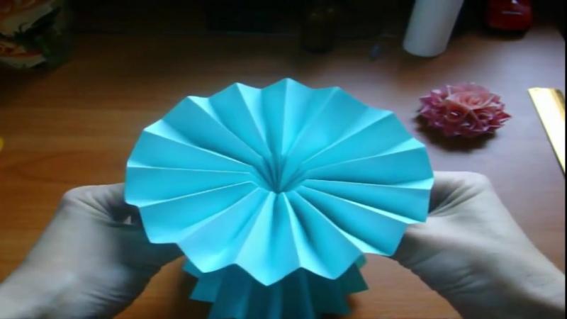 Поделки Своими Руками Для Дома. Ваза Подставка Из Бумаги. Ваза Оригами Origami Vase HD, 720p