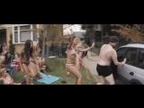 Poor Seth Rogen terrorized by Chloe Moretz in her bikini.