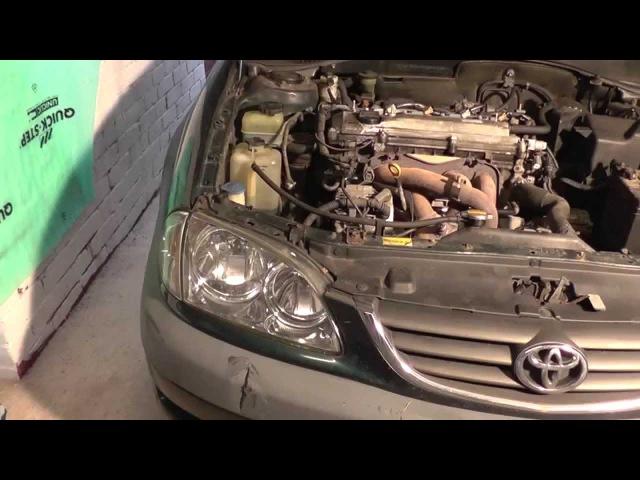 Снимаем передний бампер Toyota Avensis т22 рестайлинг