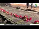 Спасатели МЧС и Египетские военные возложили цветы к месту крушения А321