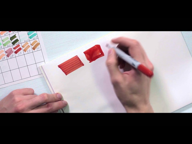 Учимся как рисовать маркерами. Основы скетчинга для начинающих.