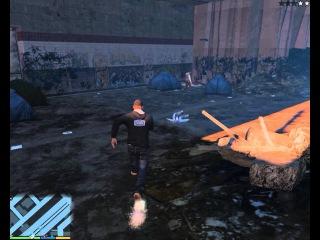 ПОТРАЧЕНО Grand Theft Auto V УБИЙСТВО БОМЖА