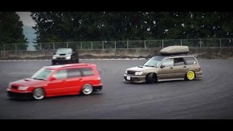 フォレスター ドリフト Low starts meet2015 SUBARU FORESTER DRIFT 車高短 シャコタン Lowered exhaust low car