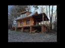 How to build a wooden cottage ( log cabin, log house ) (part 1) postaviť Chatu (časť 1)