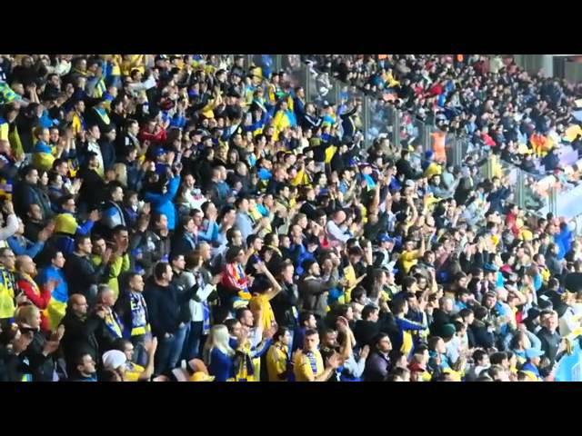 Беларусь - Украина как Борисов-Арена скандировала Жыве Беларусь и Слава Украине