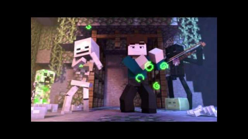 Встреча с ведьмой-Minecraft Анимация на русском языке