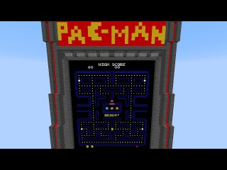 Pacman in Vanilla Minecraft w/ Real Ghost AI