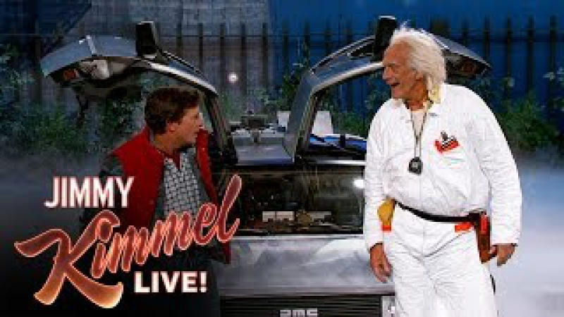 Marty McFly Doc Brown Visit Jimmy Kimmel Live