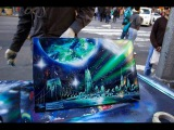 AMAZING New York City Spray Paint Art in Time Square 2014 )