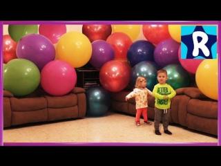 ★ Огромные ШАРИКИ Учим цвета Играем с Детьми Шариками Funny Games with Giant Balloon Show vlog