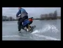 Scooter Yamaha jog Drift. Sladeways ice Дрифт на скутере Ямаха по льду (Mobile)