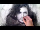 Epic Jon Snow  Game of Thrones Art Drawing Video