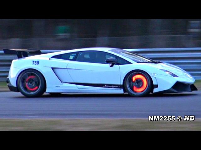 Modified Lamborghini Gallardo LP570-4 Glowing Brakes on Track!