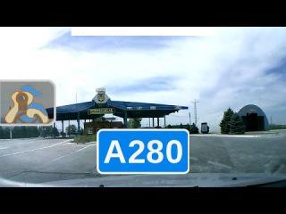 Россия, трасса А280 (М23) - Украина, трасса М14. Таганрог - Мариуполь