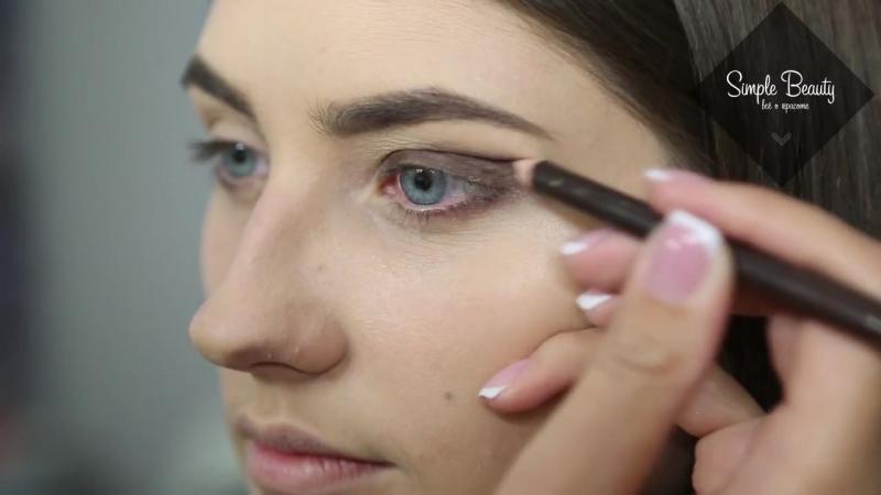 Как сделать Smoky Eyes, вечерний макияж_Make up Tutorial - [Simple Beauty - все о красоте]
