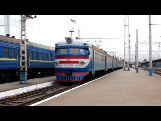 Железная дорога - Электропоезд ЭР1-249 (14 октября 2015 г.)