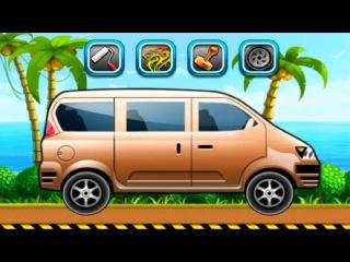 CAR WASH. CAR SPA. Minibus. Cartoon about cars. АВТОМОЙКА Микроавтобус. Мультик Про Машинки.
