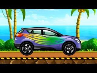 CAR WASH. CAR SPA. Cartoon about cars. АВТОМОЙКА. Внедорожник. Мультик Про Машинки.