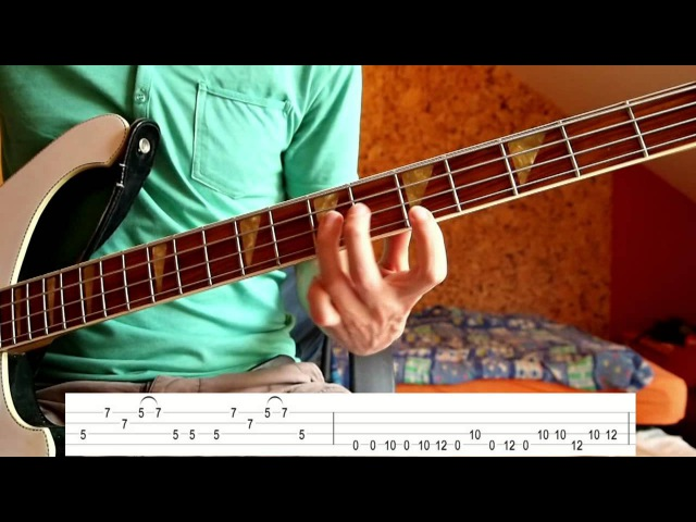 Muse - Hysteria (Bass Tutorial with TABS)