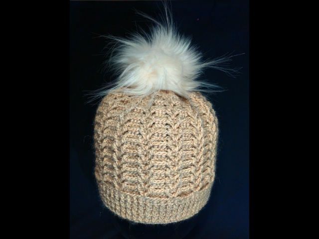 Шапка женская,крючком. Часть 2. a cap knitted crochet. Part 2.