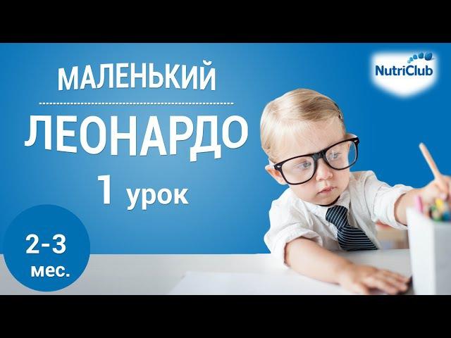 Интеллектуальное развитие ребенка 2 3 месяцев по методике Маленький Леонардо Урок 1