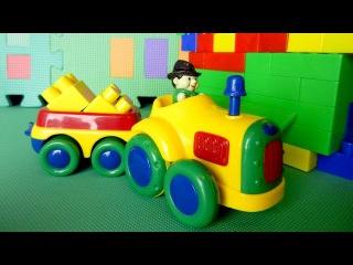 Мультик про трактор и погрузчик. Изучаем геометрические фигуры