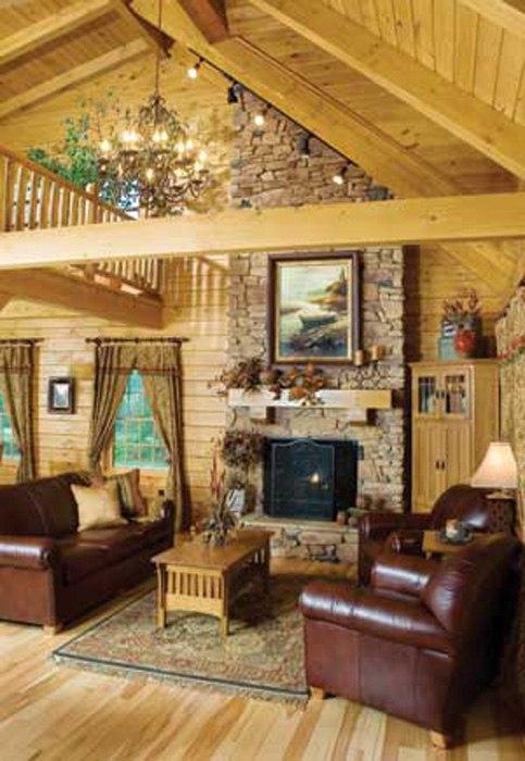 Дом, комната в деревенском стиле или ретро-дизайн