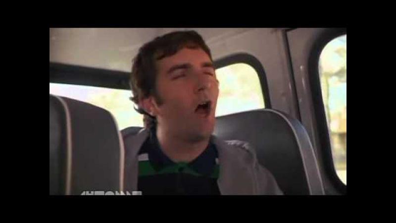 Городские приматы - задние сидения автобуса