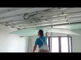 потолок из гипсокартона 11. САМЫЙ ЛЕГКИЙ монтаж гипсокартона на потолок. Easy way install ceiling.