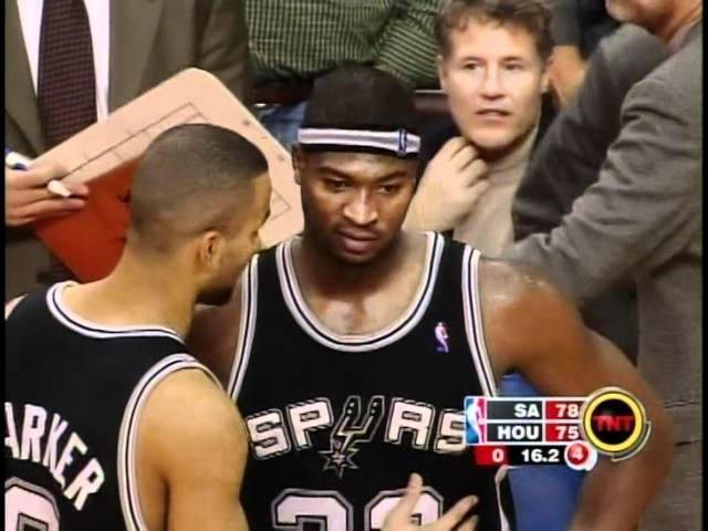 2004 NBA Rockets v Spurs - Tracy McGrady scores 13pts in 33secs to win the game.