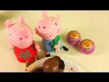 Шоколадные яица. Сюрприз. Свинка Пеппа, Маша и Кей-Кей. Развивающее видео