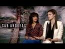 Интервью Александры и Карлы Гуджино для сайта NME о фильме Разлом Сан Андреас