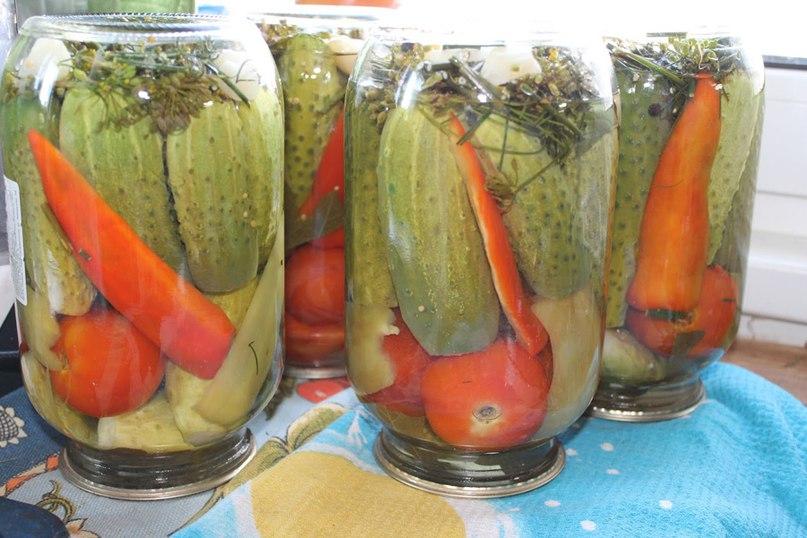 Заготовки на зиму из различных овощей