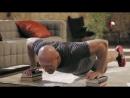 6 выпуск. Упражнения для грудных мышц, глубокие отжимания.  Домашние тренировки с Денисом Семенихиным