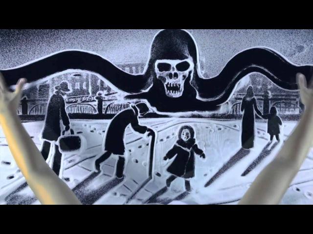 Потрясающая анимация снегом Памяти блокадного Ленинграда