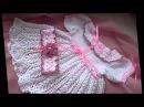Романтичное ажурное крестильное платье Вязание для девочки