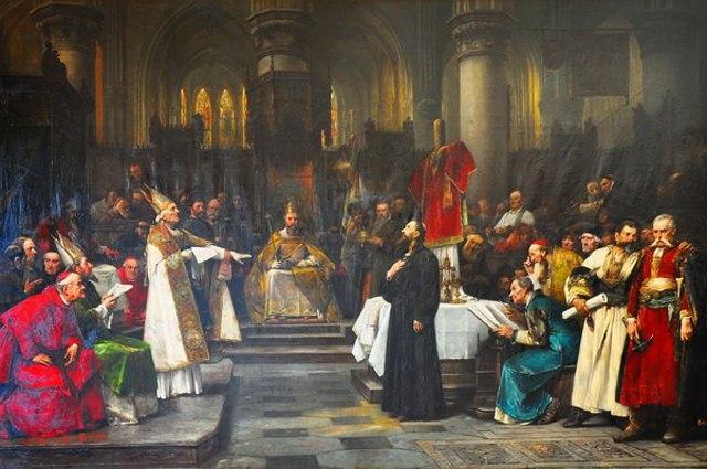 Вацлав Брожик: «Ян Гус на Соборе в Констанце» (1883).